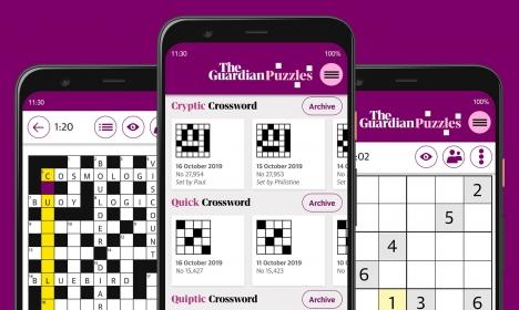 Die Rätsel-App Guardian Puzzles erweitert das digitale Abo-Angebot der britischen Tageszeitung/ Foto: The Guardian
